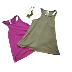 Free People ribbed Green & Purple Tank Bundle